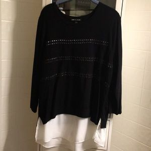 All in one sweater with attached shirt